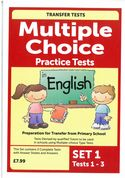 Multiple Choice Practice Transfer Test in English Set 1 Tests 1-3 by Pat Quinn